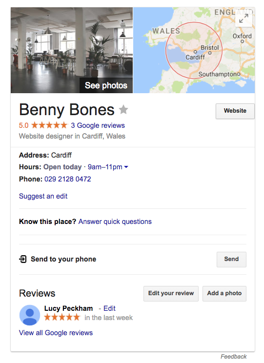 Improve your search engine presence with Google My Business