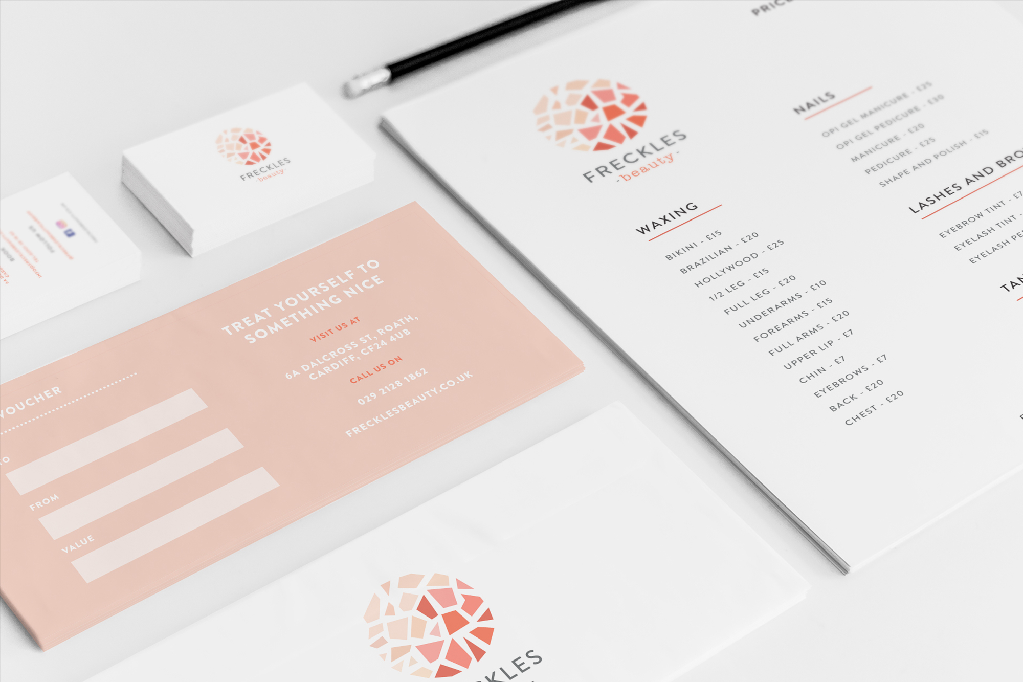 freckles-beauty-branding collateral