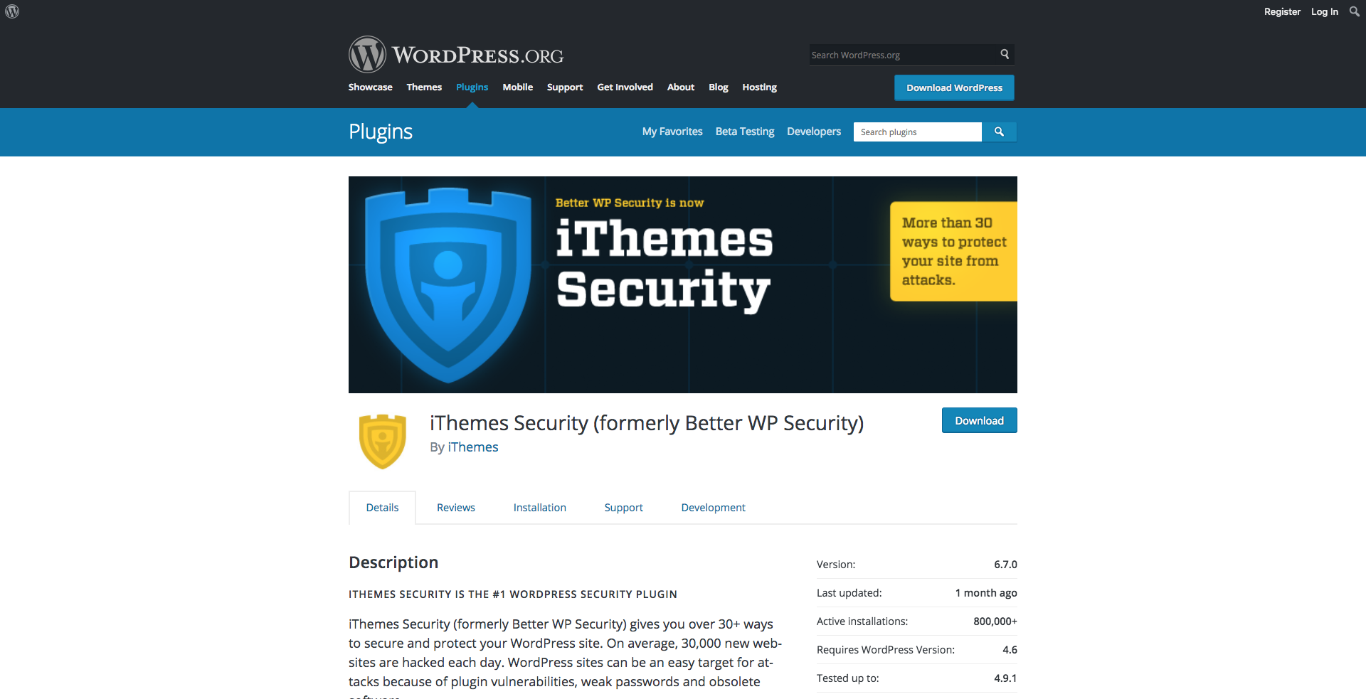 ithemes secuirty hompeage